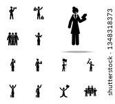 businesswoman  book icon.... | Shutterstock . vector #1348318373