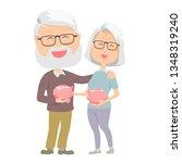 senior carrying retirement... | Shutterstock .eps vector #1348319240