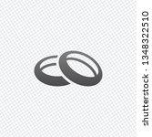 wedding rings  pair circles ... | Shutterstock .eps vector #1348322510