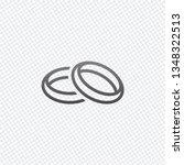 wedding rings  pair crossed and ... | Shutterstock .eps vector #1348322513