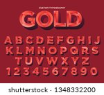 elegant red low poly typography ... | Shutterstock .eps vector #1348332200