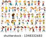 kids playing sport set...   Shutterstock .eps vector #1348332683