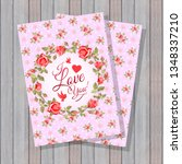 beautiful floral design of... | Shutterstock .eps vector #1348337210