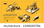 business logistics service... | Shutterstock .eps vector #1348340786
