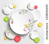 paper round banner with floral... | Shutterstock .eps vector #134834444