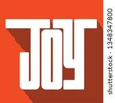 joy handlettering typography | Shutterstock .eps vector #1348347800