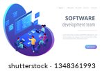 tiny people software developers ... | Shutterstock .eps vector #1348361993