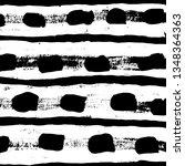 brush grunge pattern. white and ... | Shutterstock .eps vector #1348364363