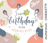 vector birthday card  | Shutterstock .eps vector #1348365779
