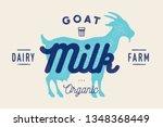 Milk  Goat. Logo With Goat...