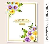 romantic wedding invitation... | Shutterstock .eps vector #1348374836