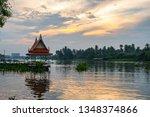 overcast sky during sunset... | Shutterstock . vector #1348374866