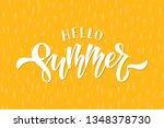 hand drawn lettering hello...   Shutterstock .eps vector #1348378730