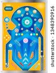 pinball machine. isolated... | Shutterstock .eps vector #1348390916