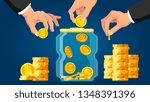 money saving. concept of flat...   Shutterstock .eps vector #1348391396