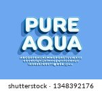 vector emblem pure water with... | Shutterstock .eps vector #1348392176