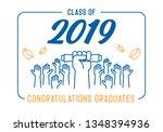 graduation day. class of 2019... | Shutterstock .eps vector #1348394936