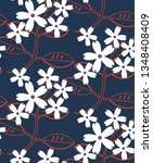 seamless floral pattern in... | Shutterstock .eps vector #1348408409