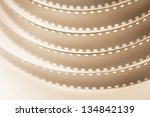 filmstrip sepia macro full... | Shutterstock . vector #134842139