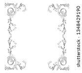hand drawn wedding invitation... | Shutterstock .eps vector #1348429190