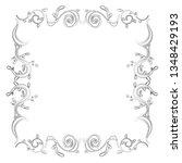 hand drawn wedding invitation... | Shutterstock .eps vector #1348429193