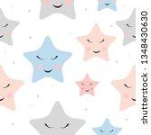 cute star night seamless... | Shutterstock .eps vector #1348430630