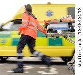 Running Blurry Paramedic Woman...