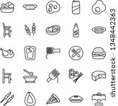 thin line vector icon set  ... | Shutterstock .eps vector #1348442363