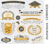 vintage emblems and labels | Shutterstock .eps vector #134844320