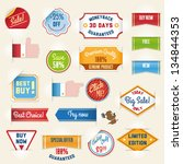 set of sale stickers and tags | Shutterstock .eps vector #134844353