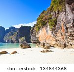 view of maya bay  phi phi... | Shutterstock . vector #134844368