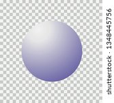 blank round sphere ball of blue.... | Shutterstock .eps vector #1348445756
