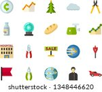color flat icon set   holy... | Shutterstock .eps vector #1348446620