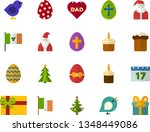 color flat icon set   easter... | Shutterstock .eps vector #1348449086