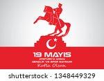 may 19 ataturk commemoration... | Shutterstock .eps vector #1348449329