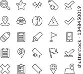 thin line vector icon set  ... | Shutterstock .eps vector #1348450019