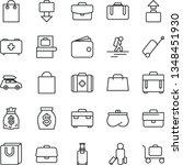 thin line vector icon set  ... | Shutterstock .eps vector #1348451930