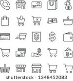 thin line vector icon set  ... | Shutterstock .eps vector #1348452083