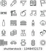 thin line vector icon set  ... | Shutterstock .eps vector #1348452173