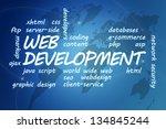 web development concept...   Shutterstock . vector #134845244