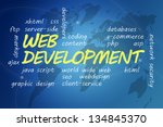 with chalk handwritten web... | Shutterstock . vector #134845370