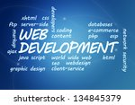 web development concept... | Shutterstock . vector #134845379