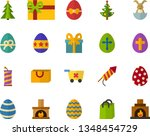 color flat icon set   easter... | Shutterstock .eps vector #1348454729