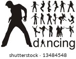 high quality traced dancing... | Shutterstock .eps vector #13484548
