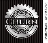 churn silvery emblem or badge | Shutterstock .eps vector #1348456640