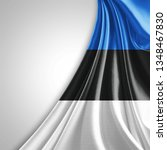 estonia flag of silk with... | Shutterstock . vector #1348467830