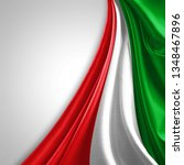 italy flag of silk with... | Shutterstock . vector #1348467896