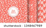 collection of seamless coral... | Shutterstock .eps vector #1348467989