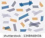 adhesive tape. et of accept or... | Shutterstock .eps vector #1348468436