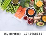 selection of healthy food.... | Shutterstock . vector #1348468853